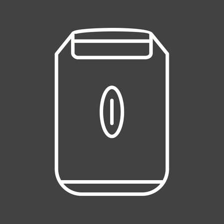 Unique Shaving Machine Vector Line Icon Ilustrace
