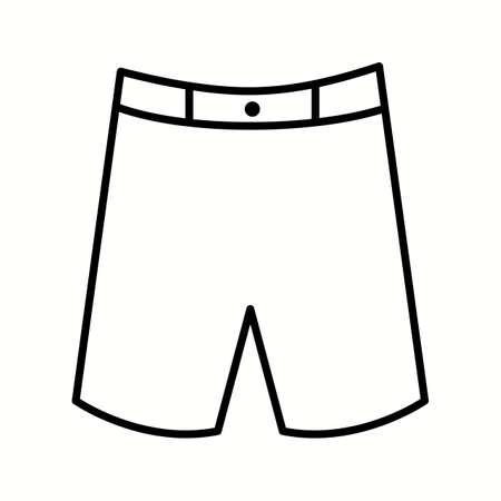 Unique Shorts Vector Line Icon