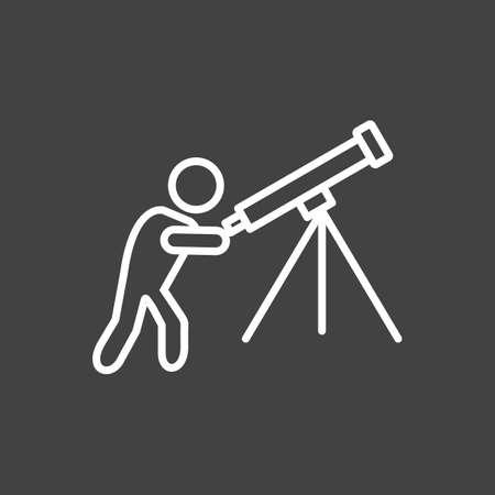 Unique Adjusting Telescope Vector Line Icon