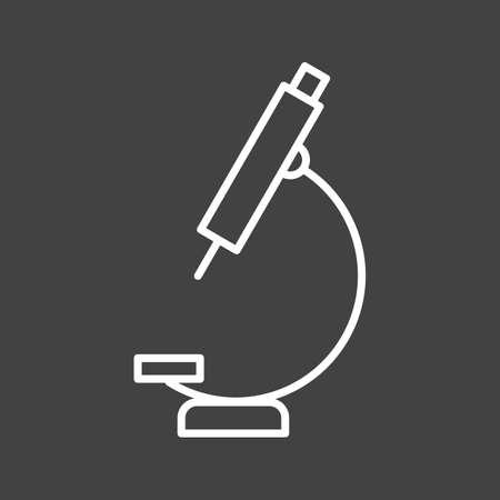 Unique Microscope Vector Line Icon