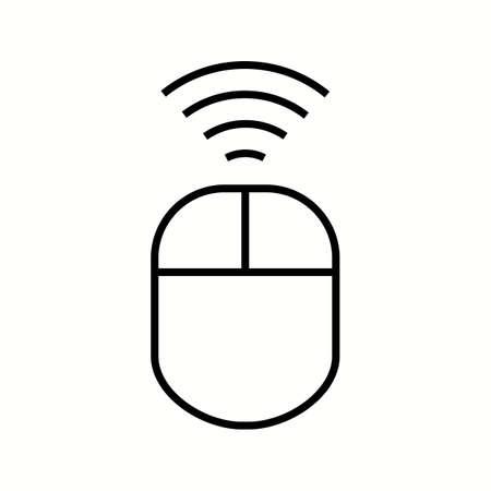 Unique Wireless Input Device Vector Line Icon Reklamní fotografie - 137895663