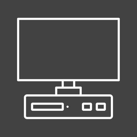 Unique Desktop Vector Line Icon