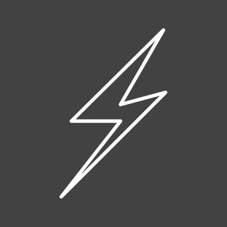 Unique Lightening II Vector Line Icon Ilustrace