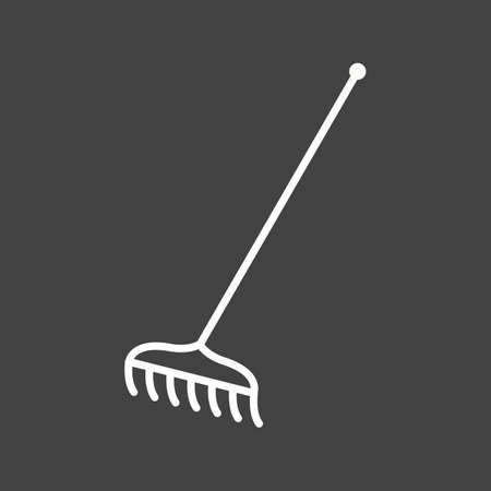 Unique Rake Vector Line Icon Ilustrace