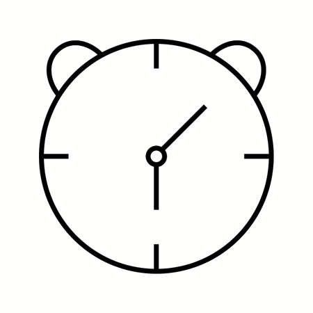 Unique Alaram Clock Vector Line Icon 写真素材 - 137919400