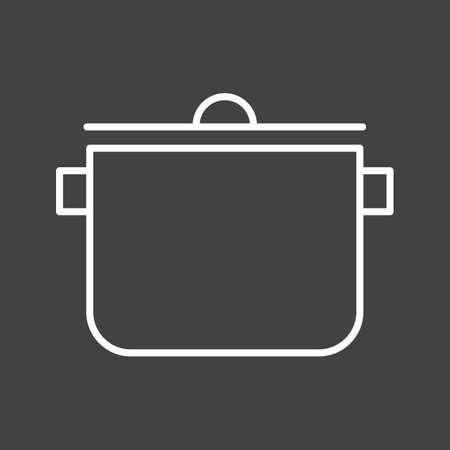 Unique Cooking Pot Vector Line Icon Reklamní fotografie - 137895713