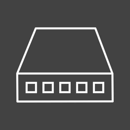 Unique Network Switch Vector Line Icon