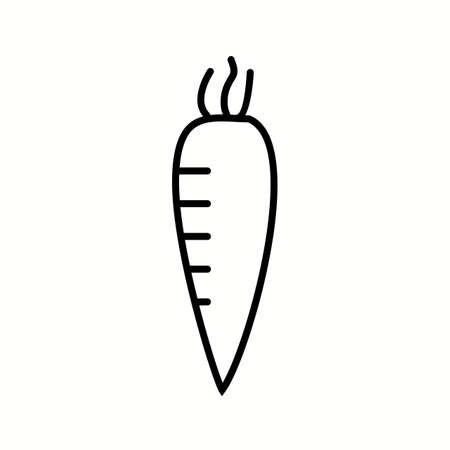 Unique Radish Vector Line Icon