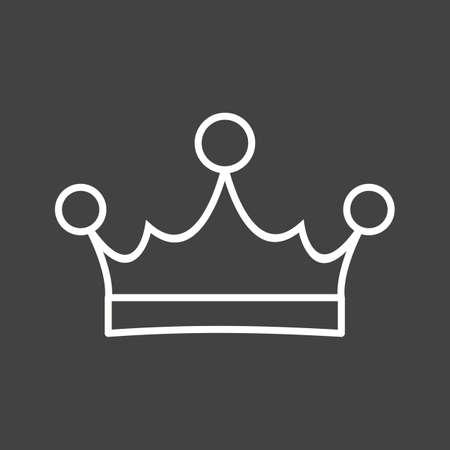 Unique King Crown Vector Line Icon Reklamní fotografie - 137895926