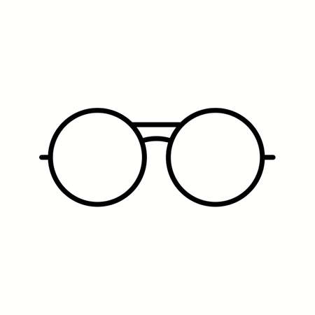 Unique Vintage Glasses Vector Line Icon Reklamní fotografie - 137895694