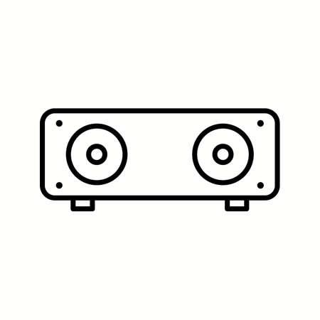 Unique Speakers Vector Line Icon Reklamní fotografie - 137896078