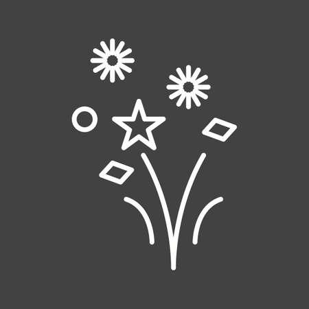 Unique Fireworks Vector Line Icon Reklamní fotografie - 137895599