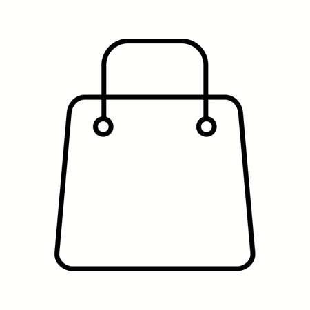 Unique Shopping Bag Vector Line Icon