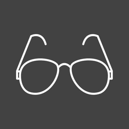 Unique Reading Glasses Vector Line Icon Reklamní fotografie - 137896096
