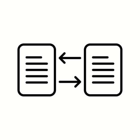 Unique File Transfer Vector Line Icon
