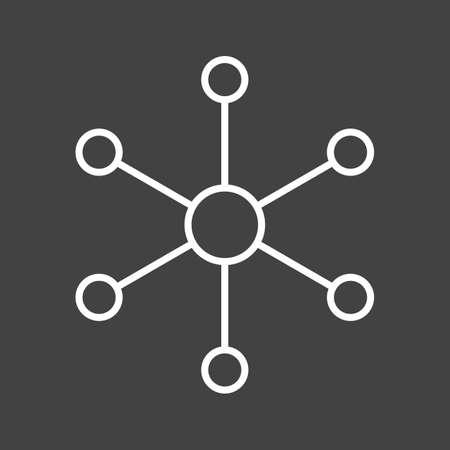 Unique Molecular Structure II Vector Line Icon Reklamní fotografie - 137895754