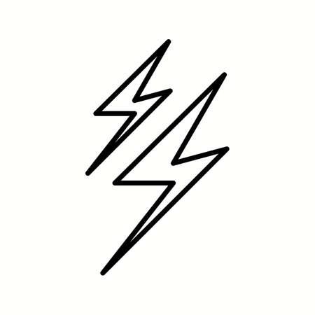 Einzigartiges Blitzvektor-Liniensymbol Vektorgrafik