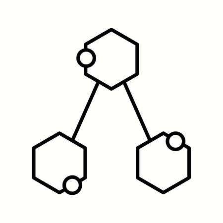Unique Chemical Structure Vector Line Icon Reklamní fotografie - 137895955