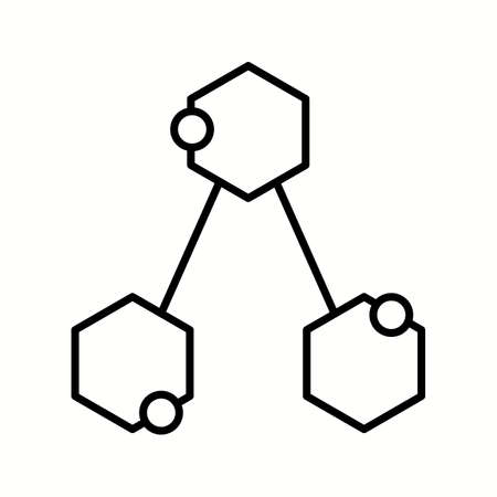 Unique Chemical Structure Vector Line Icon