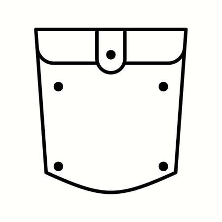 Unique Pocket Square Vector Line Icon Reklamní fotografie - 137896065