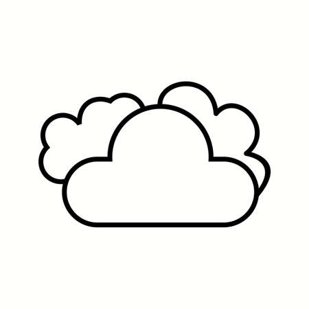 Cloud Unique Vector Line Icon