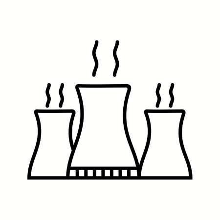 Unique Nuclear Plant Vector Line Icon Stock fotó - 137919466