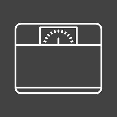 Unique Weighing Machine Vector Line Icon Reklamní fotografie - 137895892