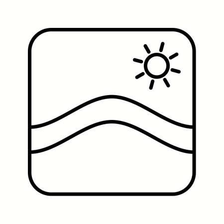 Unique Wallpapers Vector Line Icon