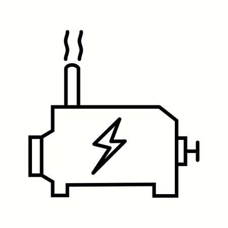 Unique Engine Can Vector Line Icon Reklamní fotografie - 137895702