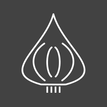Unique Beet Vector Line Icon