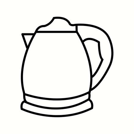 Unique Kettle Line Vector Icon