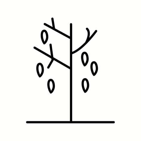 Unique Falling Leaves Vector Line Icon Reklamní fotografie - 137896015