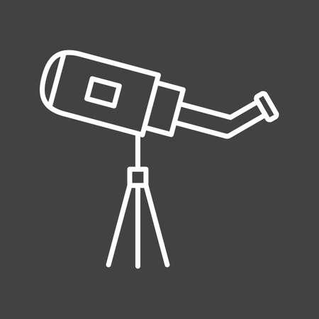 Unique Telescope Vector Line Icon