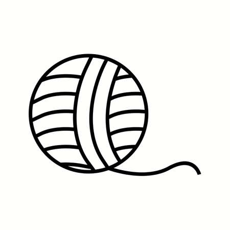 Unique Wool Vector Line Icon