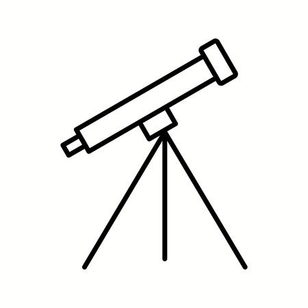 Unique Telescope Vector Line Icon