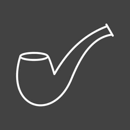 Unique Smoking Pipe Vector Line Icon