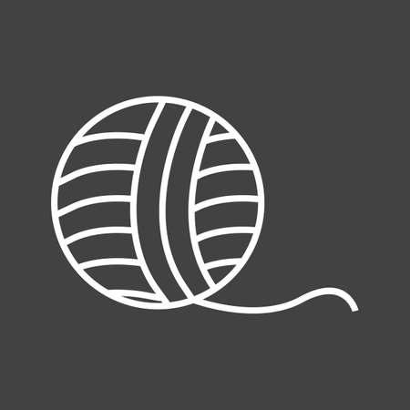 Unique Wool Vector Line Icon