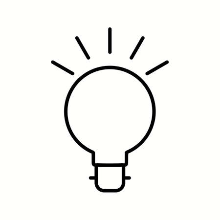 Unique Bulb Vector Line Icon