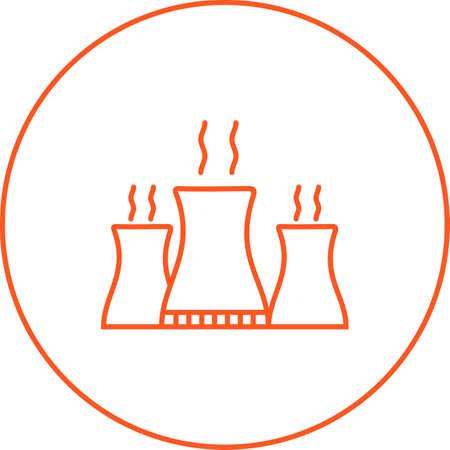 Unique Nuclear Plant Vector Line Icon Stock fotó - 137948544