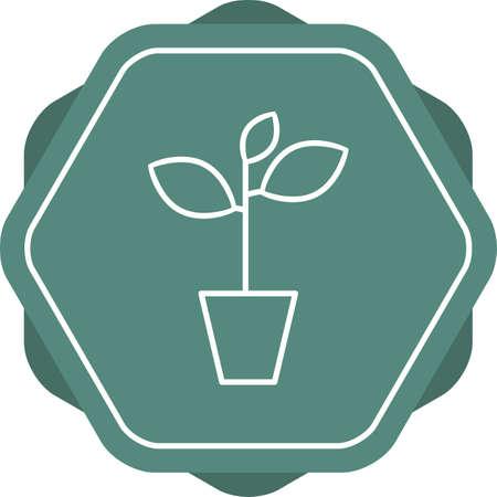 Unique Plant Vector Line Icon