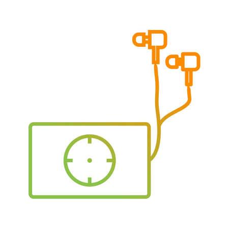 Unique Music Player Line Vector Icon Ilustrace