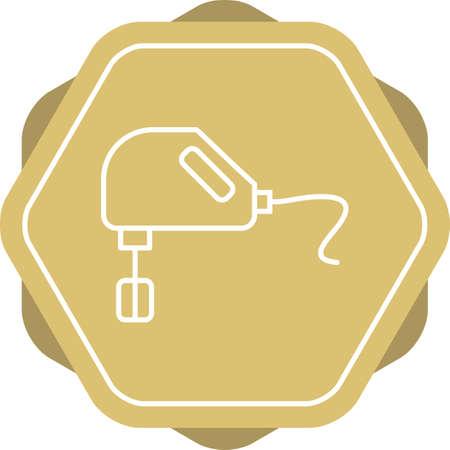 Unique Mixer Vector Line Icon