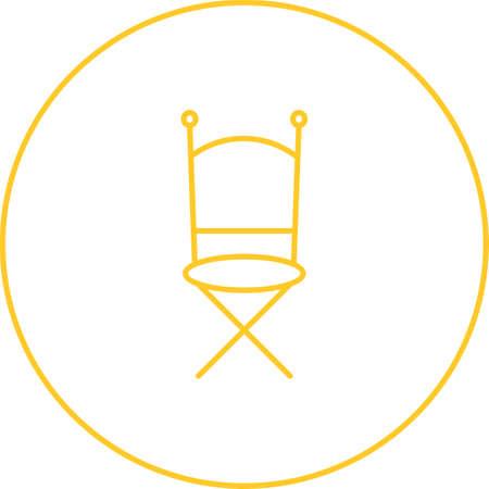 Unique Chair Vector Line Icon Foto de archivo - 138260001