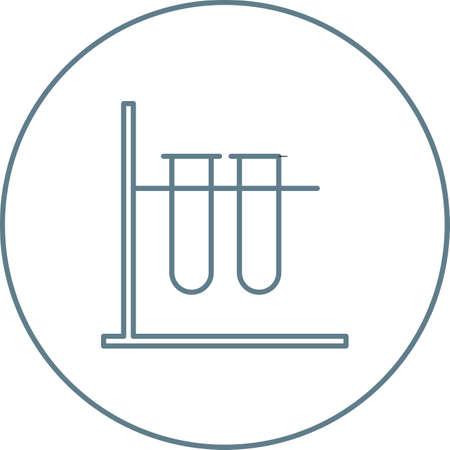 Unique Test Tubes Vector Line Icon