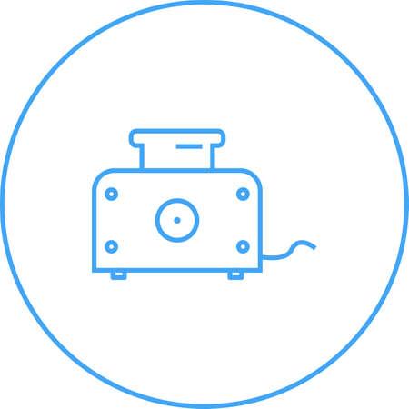 Unique Toaster Line Vector Icon
