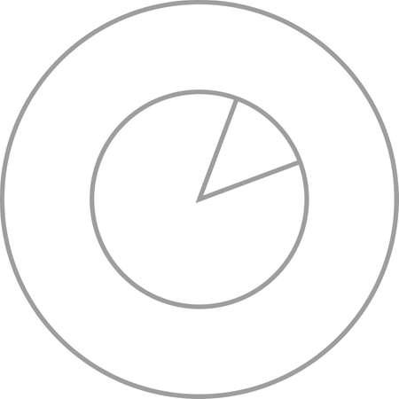 Unique Data Usage Vector Line Icon Çizim