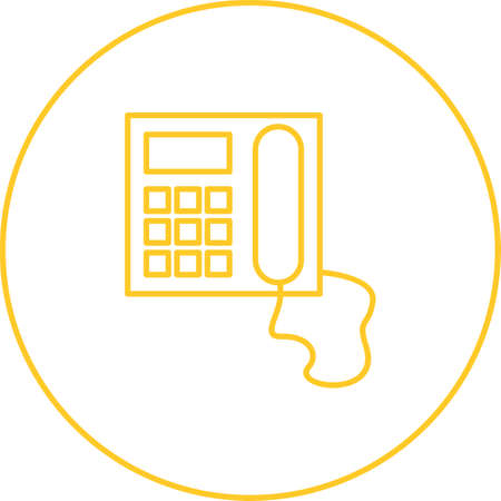 Unique Telephone Vector Line Icon