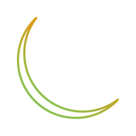 Unique New Moon Vector Line Icon 版權商用圖片 - 138261711
