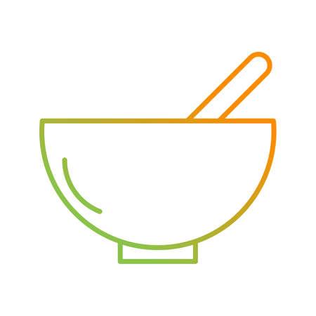 Unique Food Vector Line Icon Ilustrace