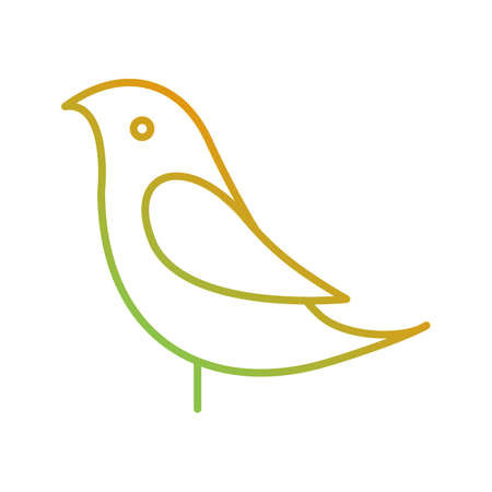 Unique Birds Vector Line Icon Stock Illustratie